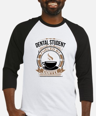 Dental Student Fueled By Coffee Baseball Jersey