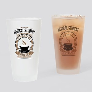 Medical Student Fueled By Coffee Drinking Glass