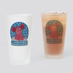 Deplorables for Trump Drinking Glass
