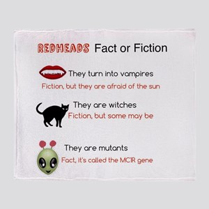 Redheads fact or fiction Throw Blanket