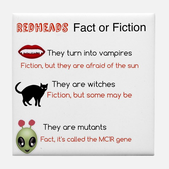 Redheads Fact Or Fiction Tile Coaster
