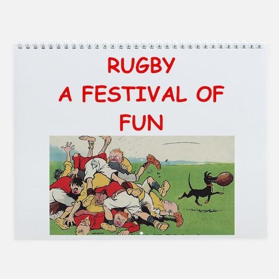 Rugby Wall Calendar
