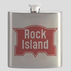 Rock Island Railway logo Flask