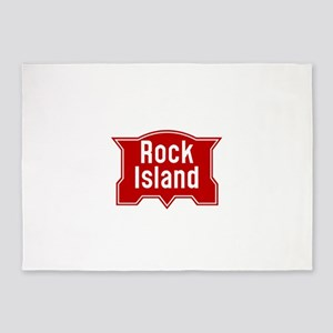 Rock Island Railway logo 5'x7'Area Rug