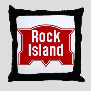 Rock Island Railway logo Throw Pillow