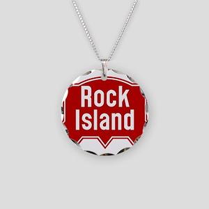 Rock Island Railway logo Necklace Circle Charm