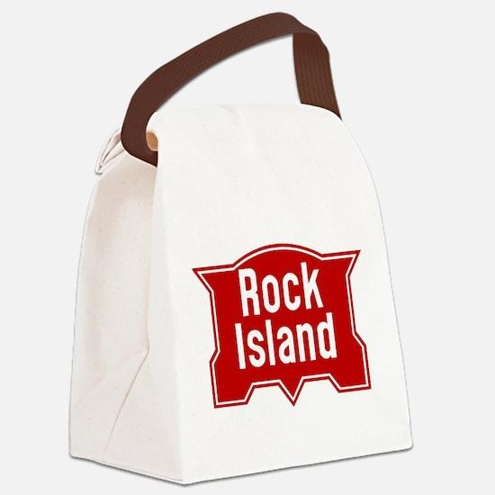 Rock Island Railway logo Canvas Lunch Bag