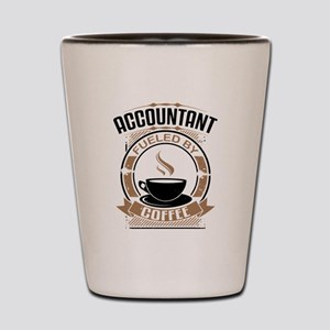 Accountant Fueled By Coffee Shot Glass