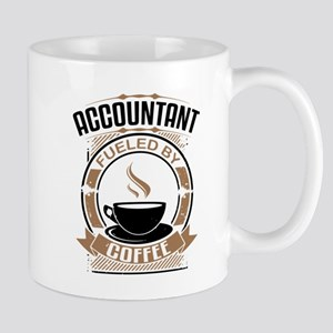 Accountant Fueled By Coffee Mugs