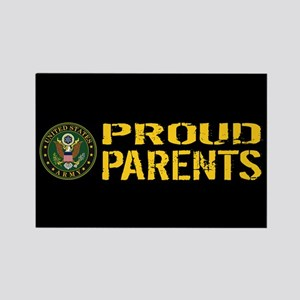 U.S. Army: Proud Parents (Black & Rectangle Magnet