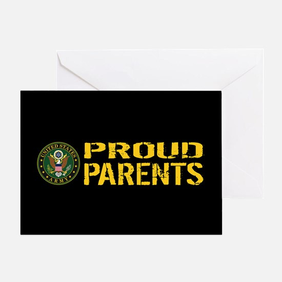 U.S. Army: Proud Parents (Black & Go Greeting Card