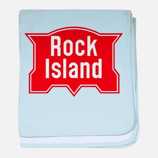 Rock Island Railway logo baby blanket