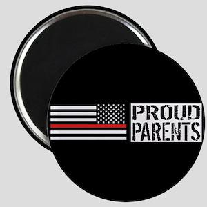Firefighter: Proud Parents (Black Flag, Red Magnet