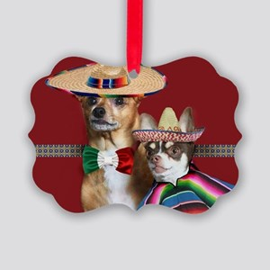 Mexican Chihuahua Dogs Picture Ornament
