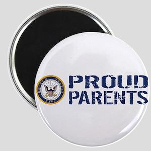 U.S. Navy: Proud Parents (Blue & White) Magnet