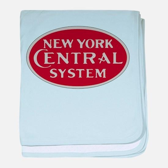 New York Central Railroad Logo-maroon baby blanket