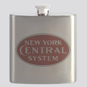 New York Central Railroad Logo-maroon Flask