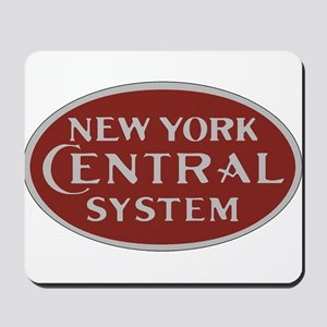 New York Central Railroad Logo-maroon Mousepad