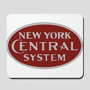 New York Central Railroad Logo-maroon Mousepad