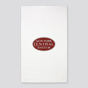 New York Central Railroad Logo-maroon Area Rug