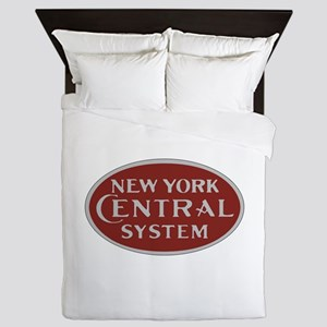New York Central Railroad Logo-maroon Queen Duvet