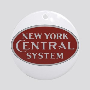 New York Central Railroad Logo-maro Round Ornament