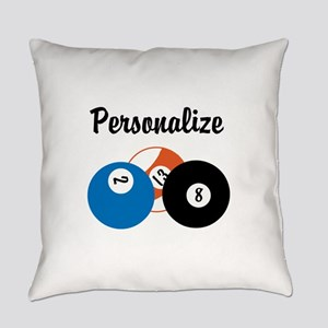 Personalize Pool Biliards Everyday Pillow
