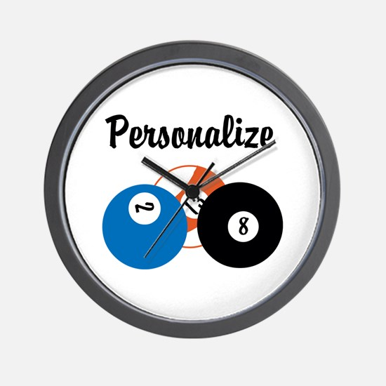 Personalize Pool Biliards Wall Clock