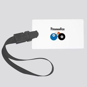 Personalize Pool Biliards Large Luggage Tag