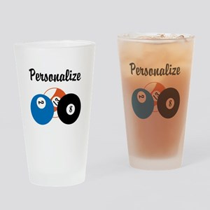Personalize Pool Biliards Drinking Glass