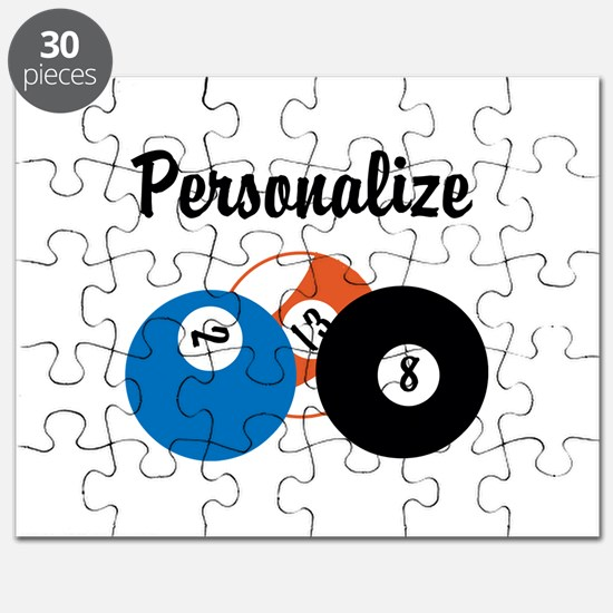 Personalize Pool Biliards Puzzle