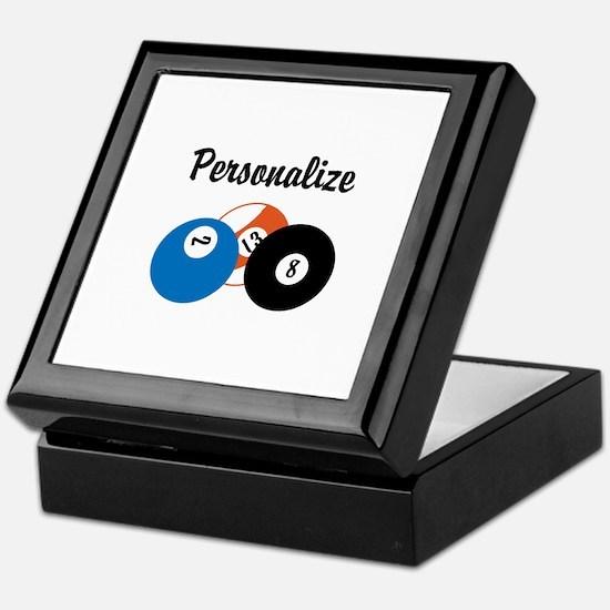 Personalize Pool Biliards Keepsake Box