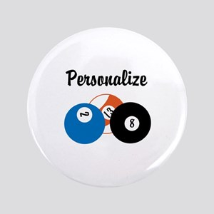 Personalize Pool Biliards Button