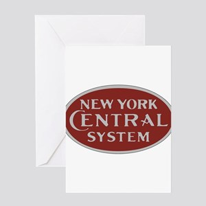 New York Central Railroad Logo-maro Greeting Cards
