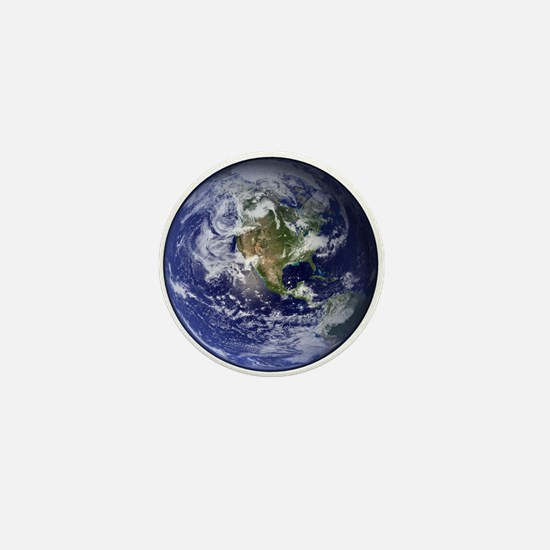 Western Earth from Space Mini Button