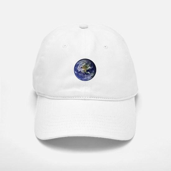 Western Earth from Space Baseball Baseball Cap