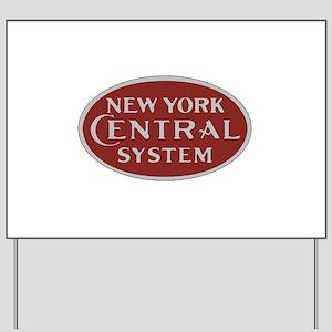 New York Central Railroad Logo-maroon Yard Sign