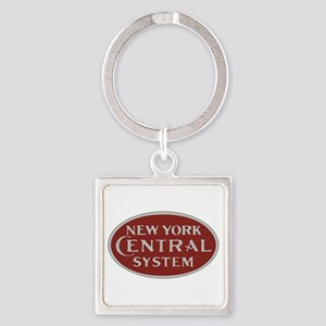 New York Central Railroad Logo-maroon Keychains