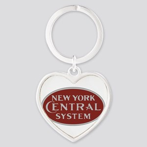 New York Central Railroad Logo-maroon Keychains