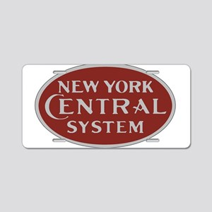 New York Central Railroad L Aluminum License Plate