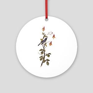 Black Throated Blue Warbler Vintage Audubon Round