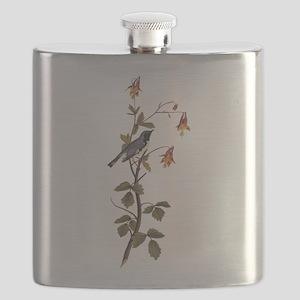 Black Throated Blue Warbler Vintage Audubon Flask