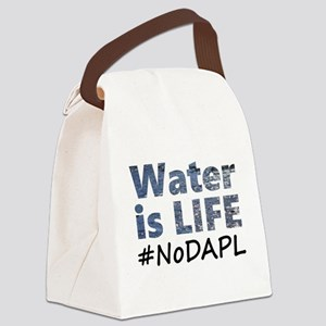 Water is Life - #NoDAPL Canvas Lunch Bag