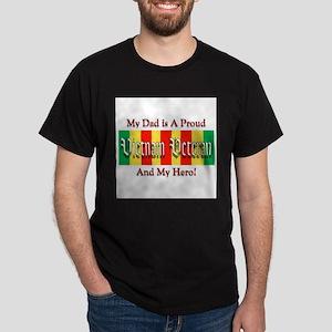 Vietnam Vet Dad Hero Ash Grey T-Shirt