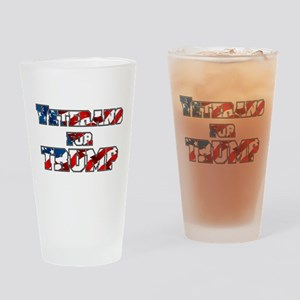 PRES45 VETARANS FOR TRUMP Drinking Glass