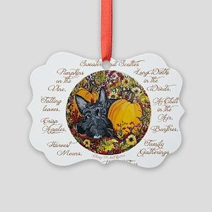 Autumn Scottie Love Ornament