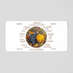 Autumn Scottie Love Aluminum License Plate