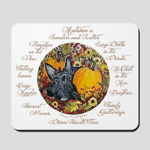 Autumn Scottie Love Mousepad