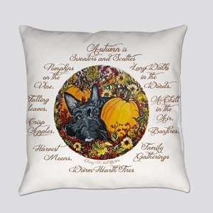 Autumn Scottie Love Everyday Pillow