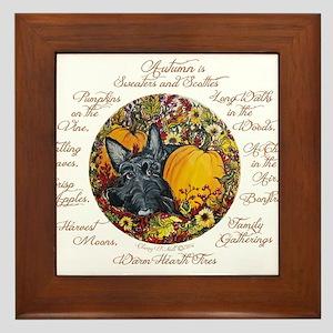 Autumn Scottie Love Framed Tile